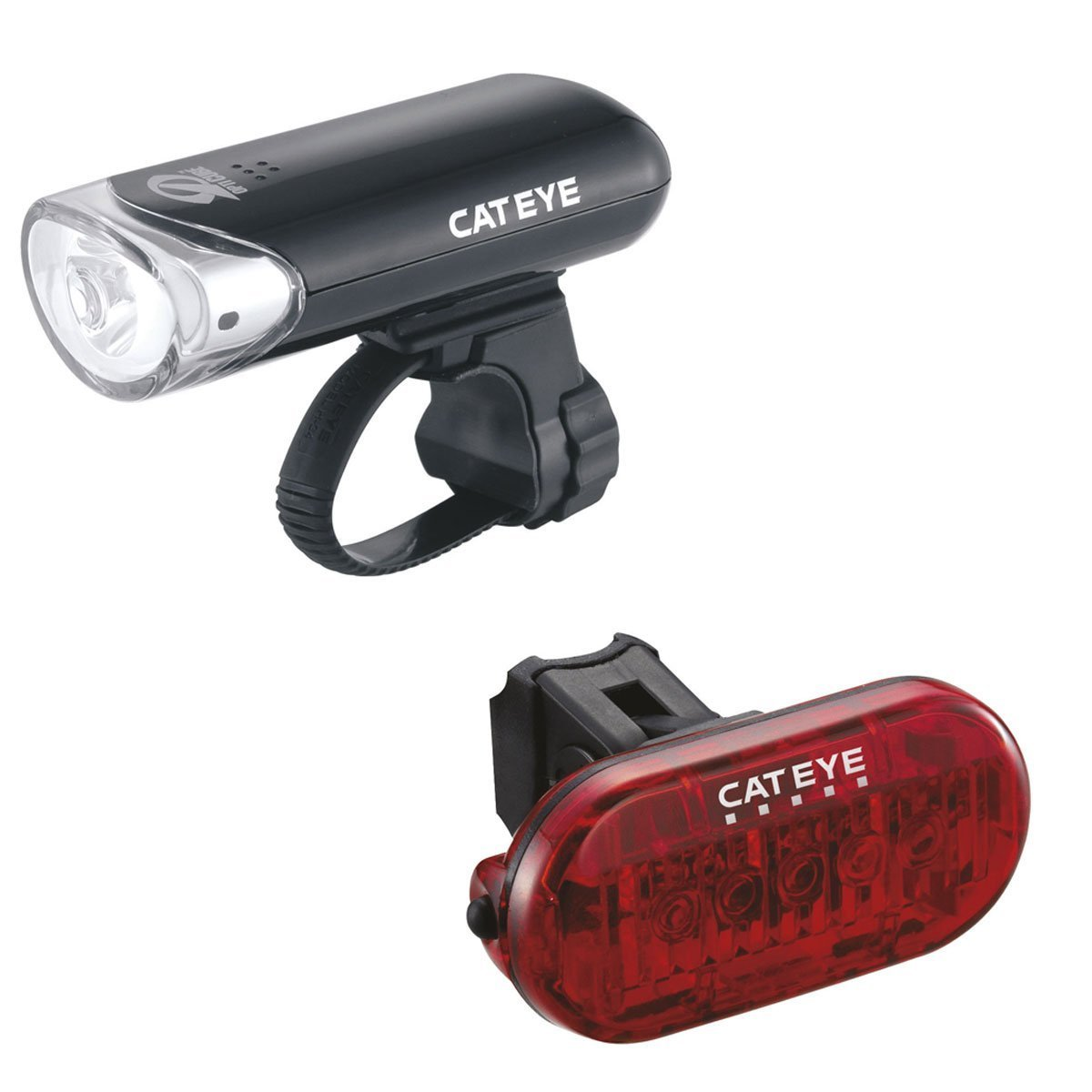 Cateye El135 /& Omni 5 Front And Rear Bike Light Set