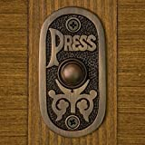 Casa Hardware Solid Brass ''Press'' Oval Doorbell with Push Button in Oil Rubbed Bronze Finish