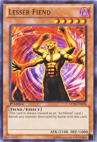 Yu-Gi-Oh! - Lesser Fiend (LCJW-EN238) - Legendary Collection 4: Joey's World - 1st Edition - Rare