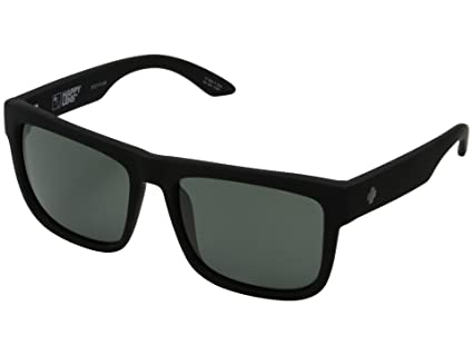 da766387ef Image Unavailable. Image not available for. Color  Spy Optic Discord  Sunglasses Matte Black w Happy Grey Green ...