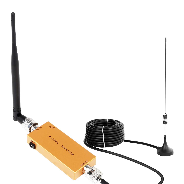Yuanj Amplificadores de Señ al 3G WCDMA 2100MHz Repetidor de Señ al del telé fono Mó vil Amplificador de Señ al gsm + Antena con Cable de 10m