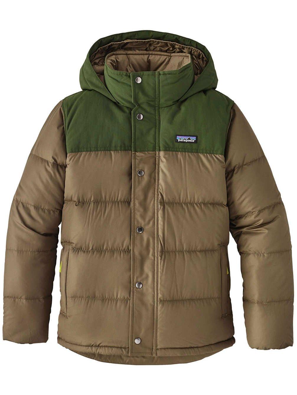 Patagonia Boys' Bivy Down Hooded Coat (L, Dark Ash)