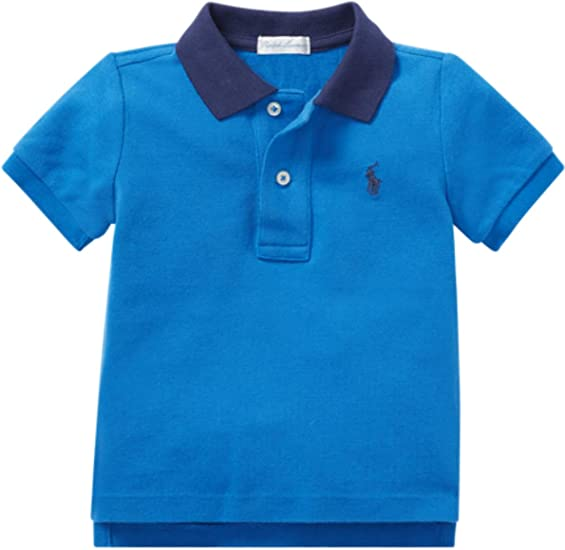 Ralph Lauren Baby Boy Long Sleeve Polo Shirt Top Authentic 3m