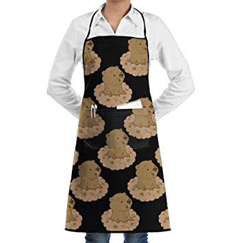 Amazon Mens Cartoon Cute Groundhog Day Pattern Kitchen Apron New Mens Apron Pattern