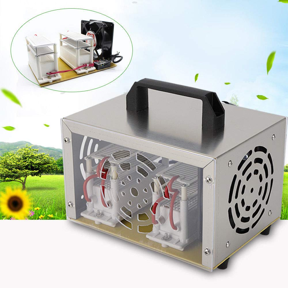OUBAYLEW 20g Ozone Generator /& Fan Ozone Disinfection Machine Air Purifier Tool