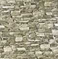 Slavyanski vinyl wallpaper brown gray grey coverings textured vintage retro faux realistic stone brick pattern double roll wallcovering wall paper decal decor textures 3D washable modern kitchen