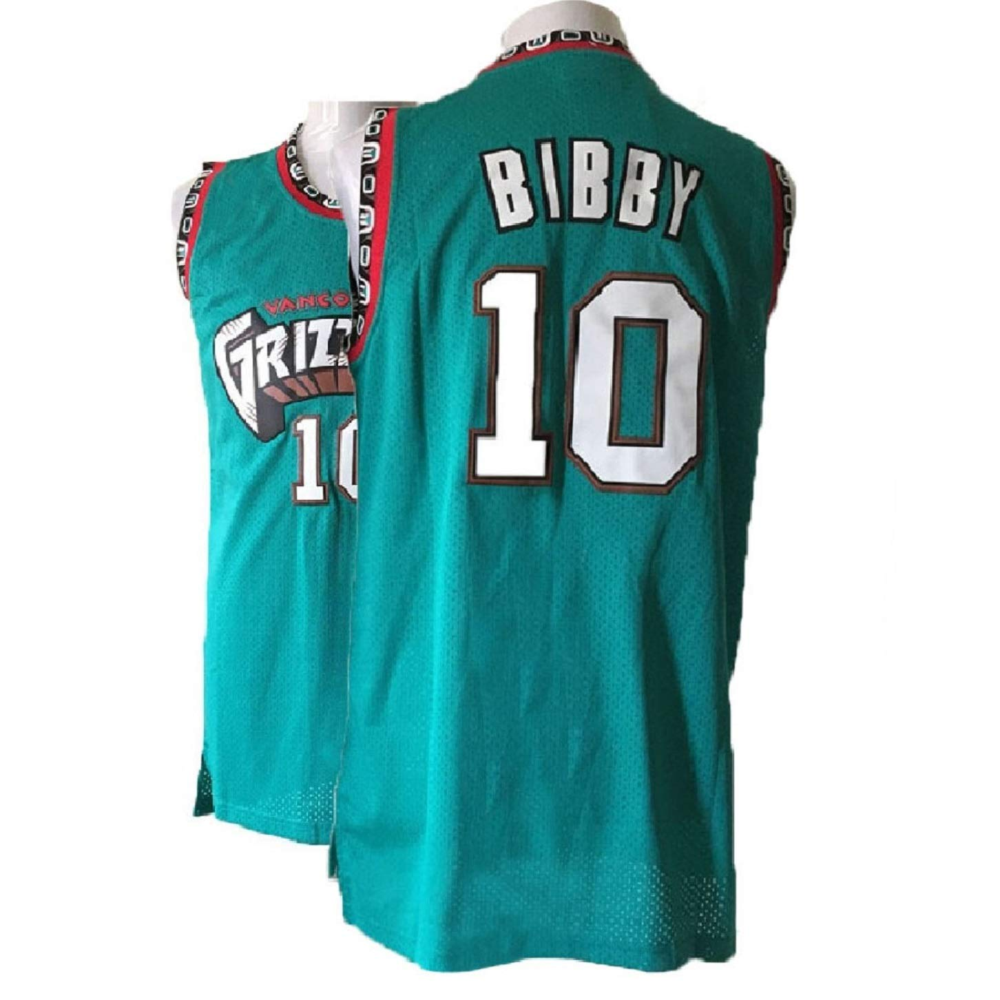 Haeyev Mens Bibby Retro Jerseys Green Athletics Jersey Basketball #10 Jersey