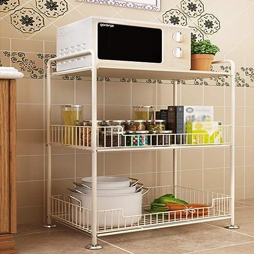 Shelf ZI Ling Shop- Horno de microondas Rack Cocina Sala de ...