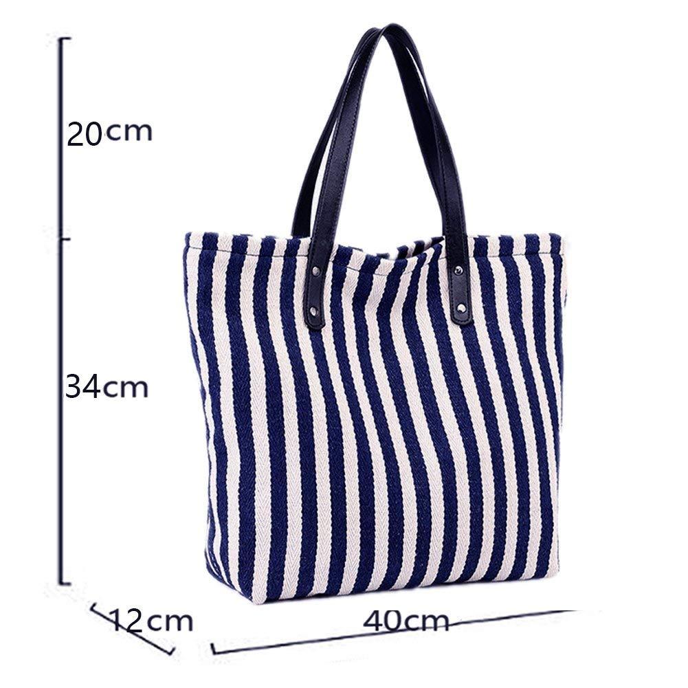 Cxjff Canvas axelväska totes hobos handväska topphandtag väskor strandväska påse (färg: Blå046) Blueb044