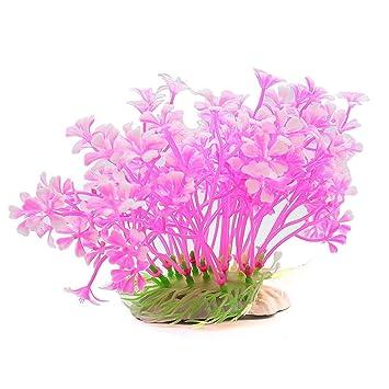 UEETEK Planta submarina artificial Hierba planta falsa Ornamento decorativo del acuario para el tanque de pescados (rosa): Amazon.es: Productos para ...