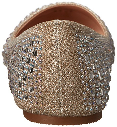 Pleaser Damen Treat 06 Ballerinas Beige (Nude Glitter Mesh Fabric)