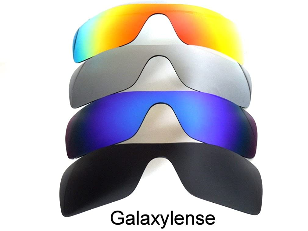 00d251c58072e Amazon.com  Galaxy 4 Pairs Replacement Lenses For Oakley Batwolf Polarized ( Black Blue Titanium Red 4 Pairs)  Clothing