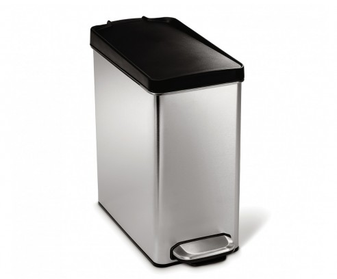 Simplehuman Stainless Steel Rectangle Waste Can 2.5 Gallon