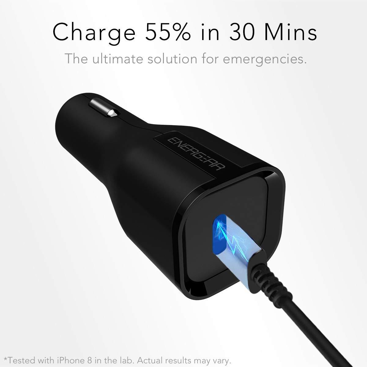 Amazon.com: EG ENERGEAR USB-C cargador de coche, certificado ...