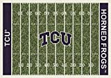 Texas Christian Horned Frogs NCAA College Home Field Team Area Rug 10'9''x13'2''