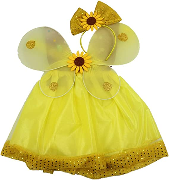 Amosfun Disfraz de Hadas para Niñas Faldas de Mariposa con Alas ...