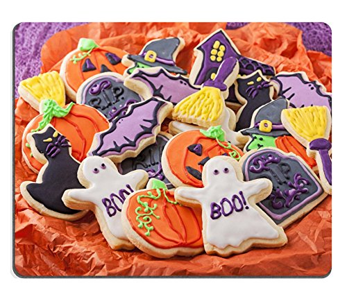 Liili Mouse Pad Natural Rubber Mousepad Colorful cookies for halloween party Image ID 22004303 (Halloween Decorated Cookies Ideas)