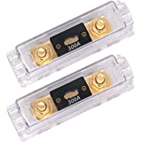 TopstrongGear Solid Brass 0/2/4 Gauge 300Amp ANL Fuse Holder with 300Amp Fuses(2 Pack) (300 Amp)