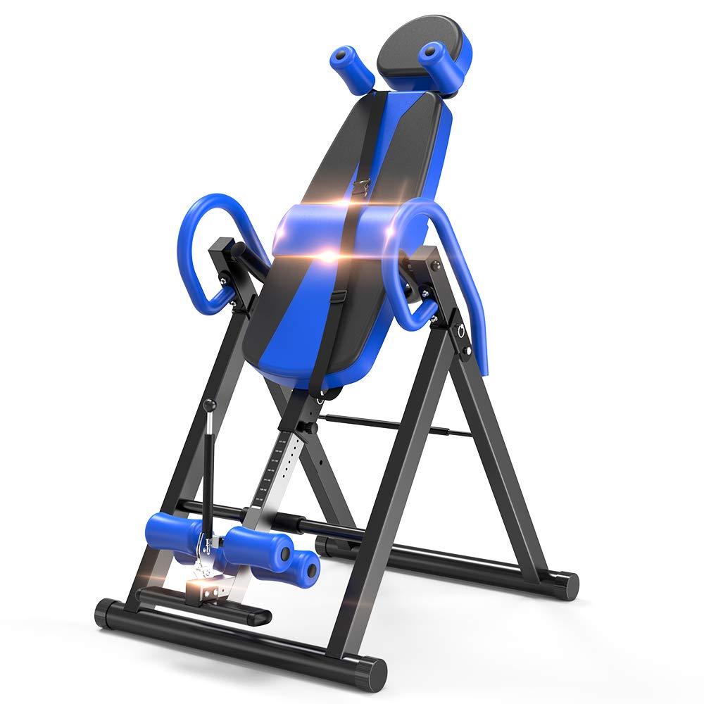 Yoleo Gravity Heavy Duty Inversion Table with Adjustable Headrest & Protective Belt (Blue) by Yoleo (Image #1)