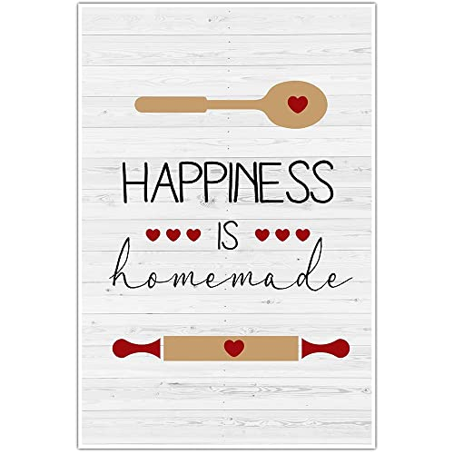 image relating to Happiness is Homemade called : Pleasure Is Do-it-yourself Kitchen area Wall Artwork: Selfmade