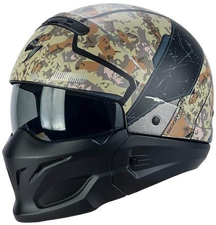 Scorpion Jet Casco Exo de Combat Solid Titanium motocicleta casco modular