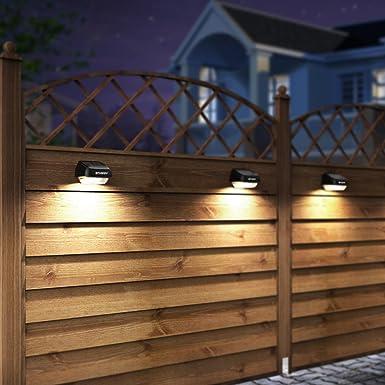 Solar Fence Post Lights OTHWAY Outdoor Waterproof Colorful Decorative Deck Lights Easy Installation Dark Sensing, 4 Packs