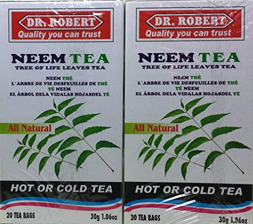 Neem Tea (Dr Robert Neem Leaves Tea - 2-pack (40 Bags))