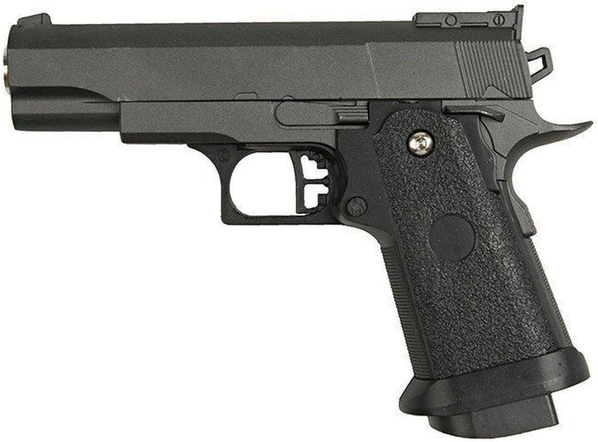 Galaxy G10 - Minipistola para airsoft, tipo Hi-Capa, con muelle, completamente de metal, de recarga manual (0,4 J)