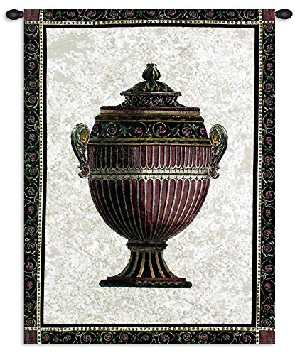 Fine Art Tapestries Empire Urn Ii Hand Finished European Style Jacquard Woven Wall Tapestry USA 34X27