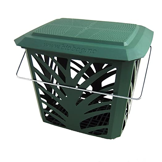 green kitchen compost caddy maxair vented for food waste recycling 7 litre