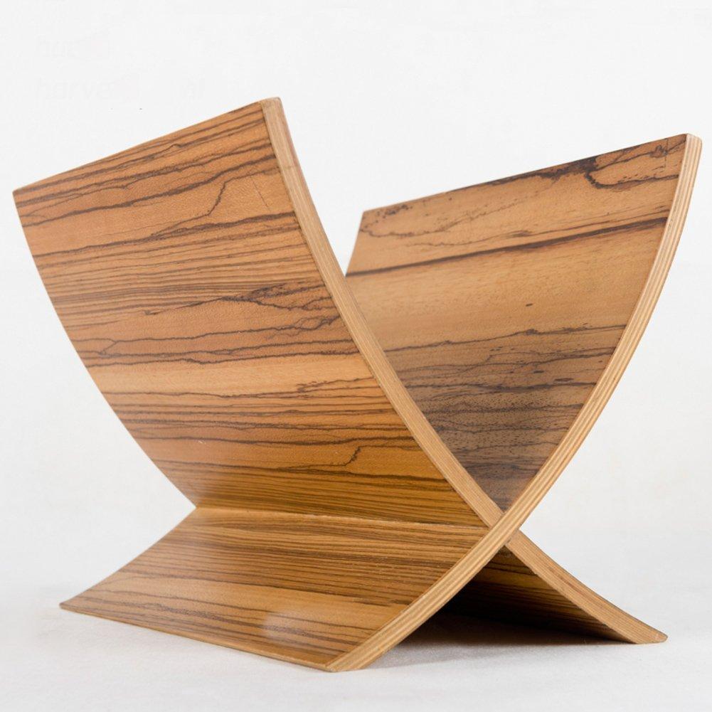 Kreativ Einfach Mini Zeitschriftenhalter,Bücherregal Regal Computer schreibtisch Massivholz Boden Zeitungsständer-A 26x29x36cm(10x11x14)