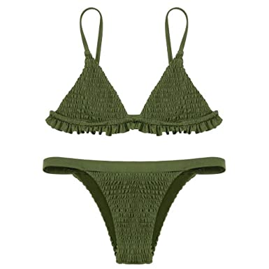 RETUROM 2019 Traje de baño, Sexy para Mujer de Cintura Alta ...