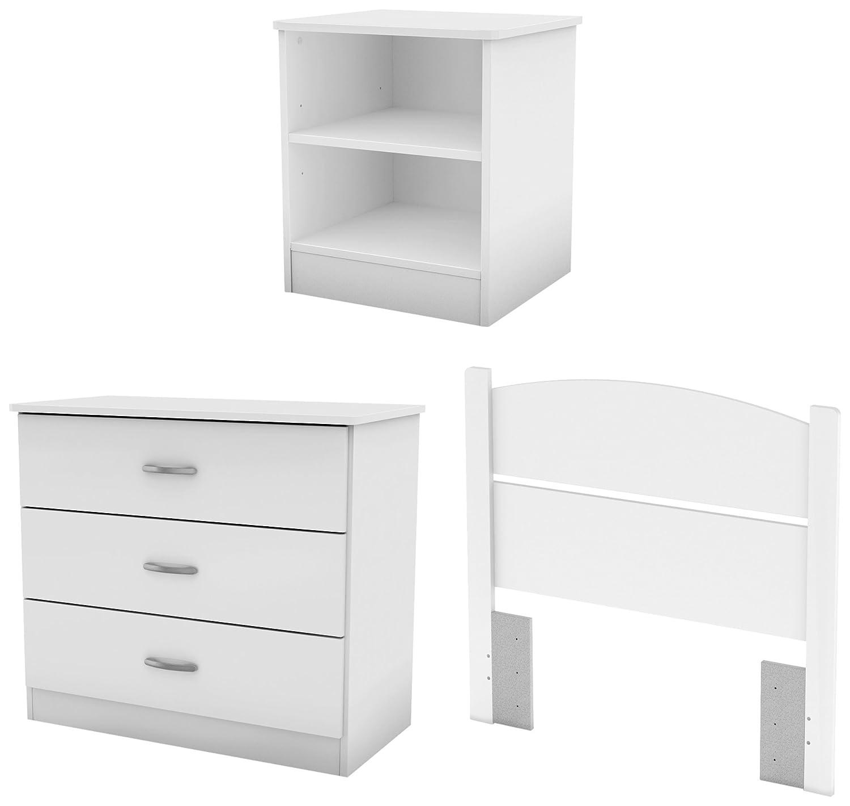 Amazon.com: South Shore Libra Bedroom Set In A Box, Twin, Pure White:  Kitchen U0026 Dining