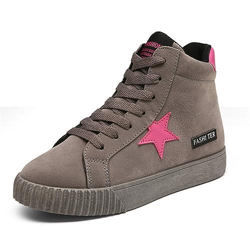 Mujeres Zapatillas Deportivas al Aire Libre Zapatos de otoño amortiguación Suelas de Encaje-up Girls Zapatos para Caminar: Amazon.es: Zapatos y complementos