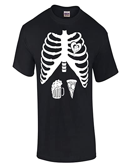 a6368472 Amazon.com: Hot Ass Maternity Skeleton Mom To B ber and Pizza Lover Regular  Costume Blk XXL: Clothing