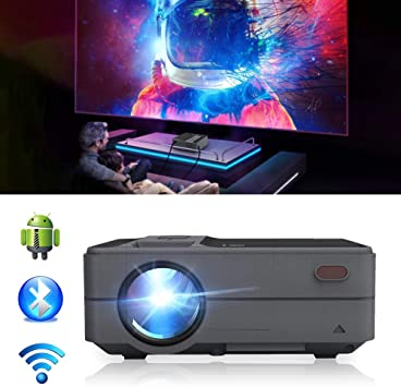 Bluetooth WiFi HDMI Portable Mini Projector 3200 Lumen LED LCD Multimedia Movie Gaming Wireless Home Theater Projector Support 1080p with HDMI USB for ...