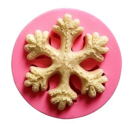 dosige molde de silicona para horno nieve Fondant molde molde de Jabón hecho a mano de