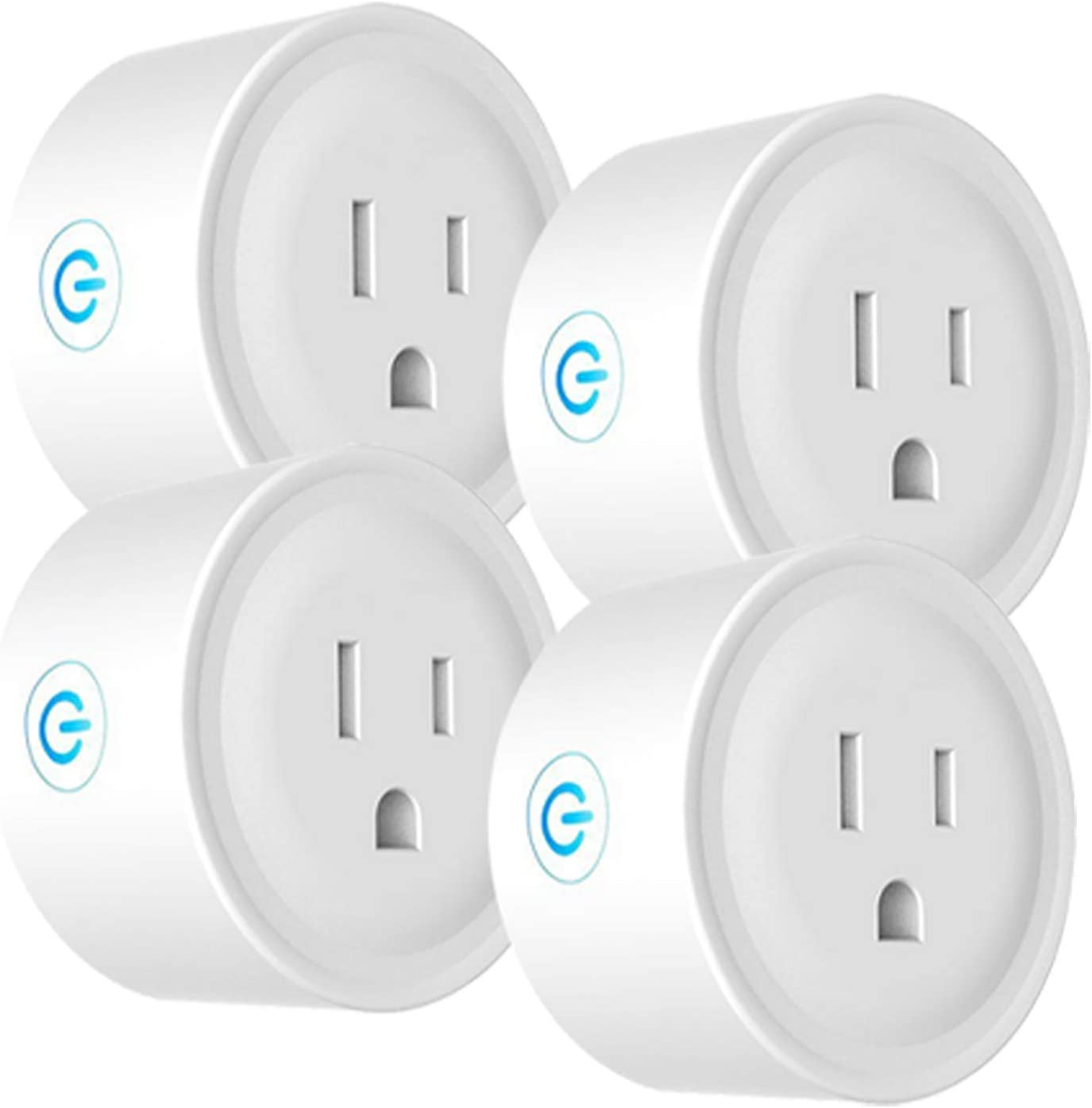 Deco Gear 4 Pack WiFi Smart Plug (Compatible with Amazon Alexa & Google Home), Control Appliances and Electronics from Anywhere