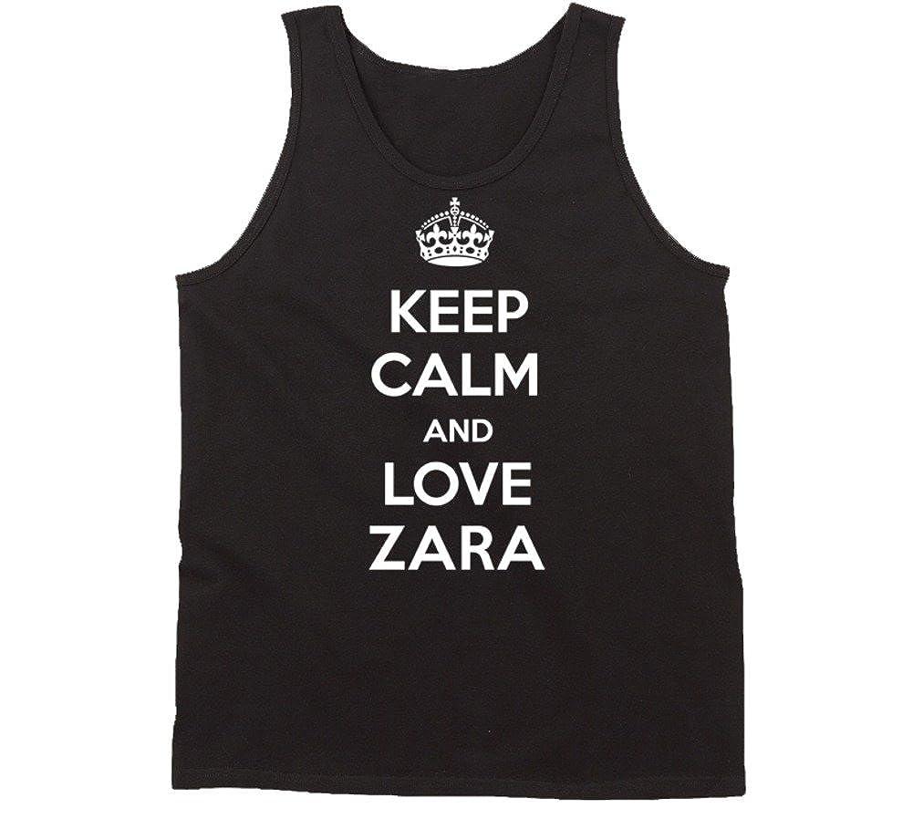 Amazon Keep Calm And Love Zara Name Tanktop Clothing