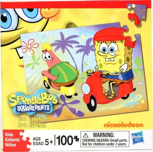 Amazon.com: Bob Esponja – Puzzle 100 piezas Spongebob sobre ...