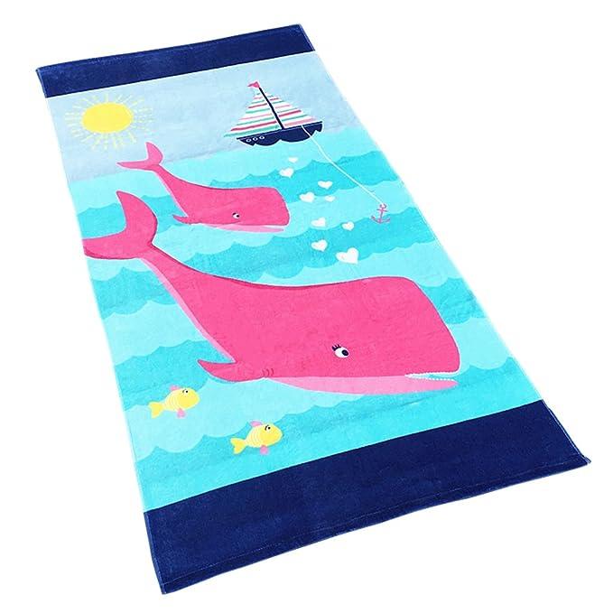 Niñas Niños Toalla de Playa - Toalla de Baño 100% Algodón Toalla Deportiva Manta de Dibujos Animados Natación Surf Senderismo Viajar: Amazon.es: Ropa y ...