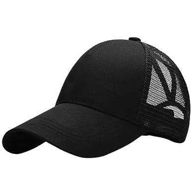 90dfb637d Ponytail Baseball Cap Women Messy Bun Hat Snapback Running Cap: Amazon.co.uk:  Clothing