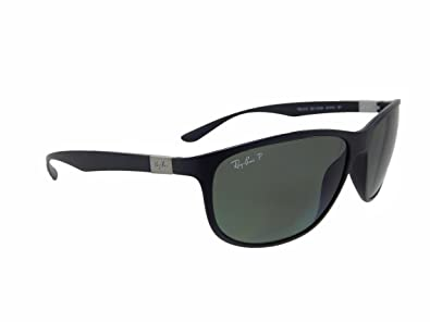 23f957c2798 Image Unavailable. Image not available for. Color  Ray Ban Liteforce Tech RB4179  601S9A Matte Black Polarized Green 62mm Sunglasses