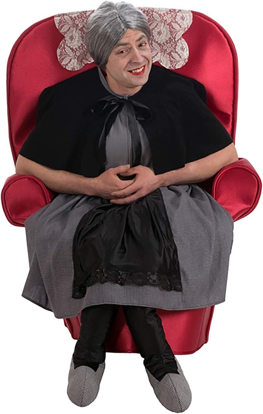 Nines dOnil Disfraz de Abuela en el sillón para Mujer: Amazon.es ...