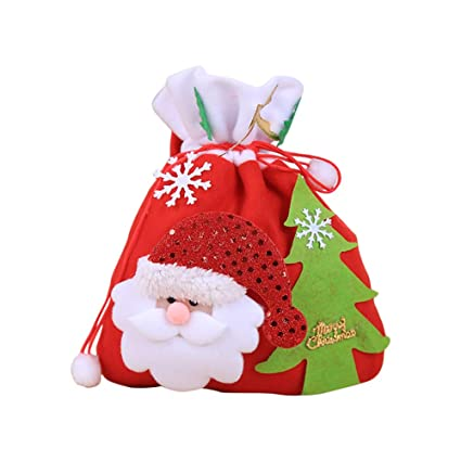 Kentop Sac Cadeau Noel Portable Sacs A Main Sacs A Bonbons Noel Sacs De Cadeaux Sachet Pack Pochette A Biscuits Motif De Pere Noel Chocolat Sac Cadeau
