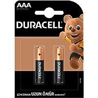 Duracell Alkalin AAA İnce Kalem Piller, 2'li paket