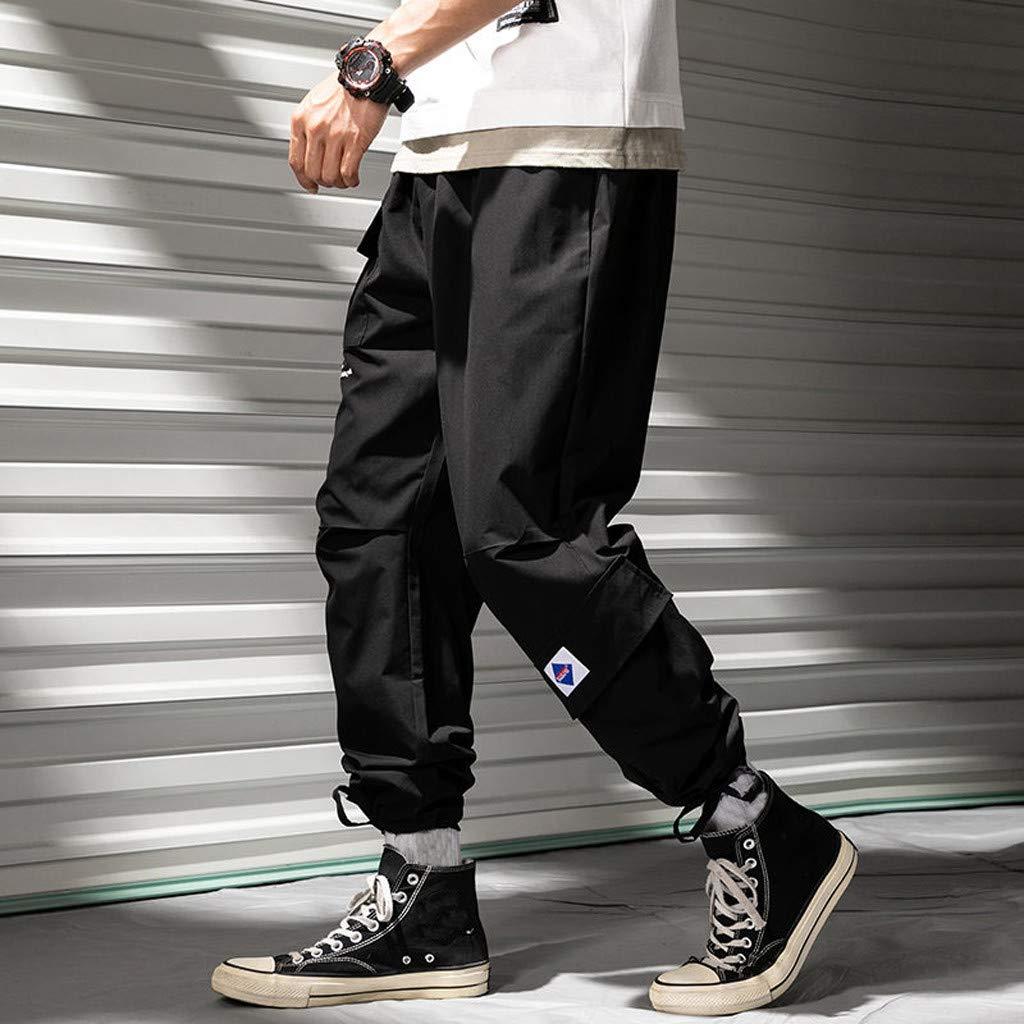which Simon Mens Pants Pantaloni Cargo da Uomo Harem Hip Hop Pantaloni da Jogging Larghi vestibilit/à Casual Sport Running Jogging Pantaloni con Multi-Tasca