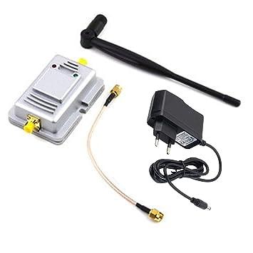 2W señal Booster amplificador para WiFi inalámbrica 2.4G enchufe para la UE: Amazon.es: Electrónica