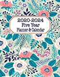 Five Year Planner & Calendar: Large Long-Term 60 Monthly Agenda Organizer Coral Teal Floral (2020-2024 Simple Monthly Planners)