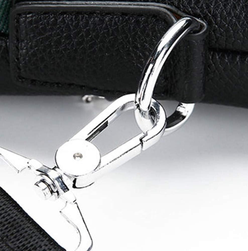 HEMFV Fashion Trend Briefcase Color : Black Embossed Lingge Soft Leather Mens Handbag Shoulder Diagonal Business Computer Bag